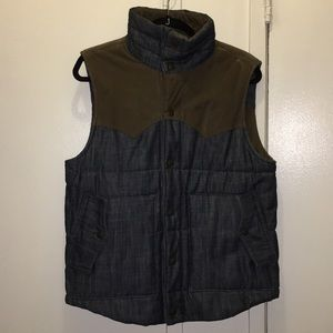 Reversible Levi's denim and corduroy down vest